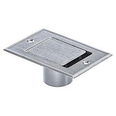 Stofzuigcontact Standaard vloer chroom