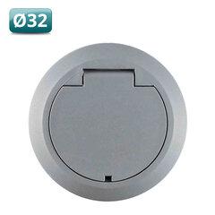 Stofzuigcontact Rondo vloer grijs 32mm
