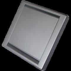 Stofzuigcontact Square zilver (mat)